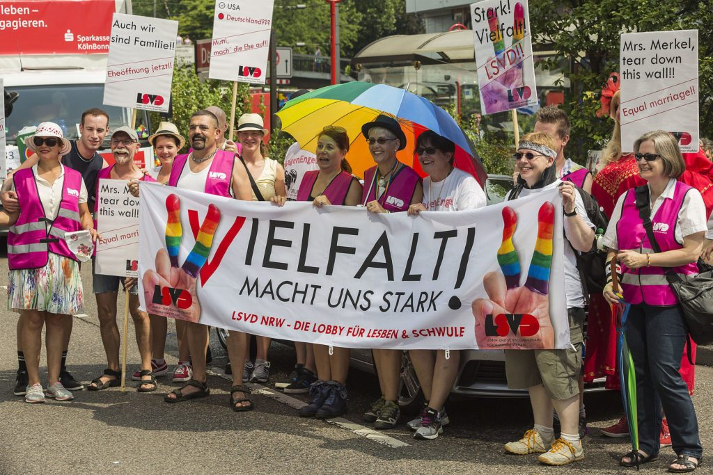 German equality protesters